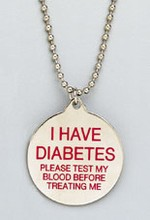 FREE Diabetes ID Necklace...